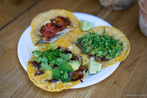 Taco dinner at Sanchez