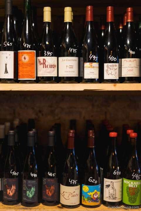 The wine cellar (backroom)