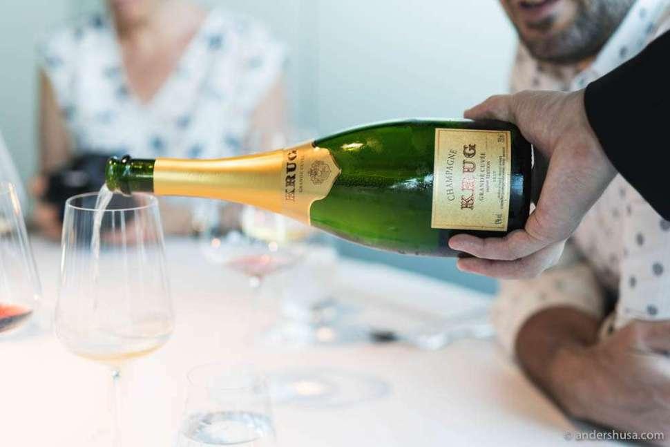 Time for Krug Champagne – Grand Cuvée 166éme Édition.