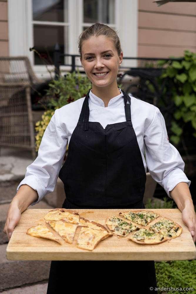 Chef Runa Kvendseth at restaurant Park 29