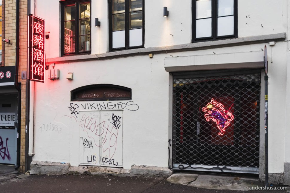 Night Pig on Bernt Ankers gate 37 in Oslo