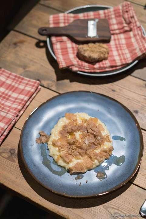 Risotto with white Alba truffle.