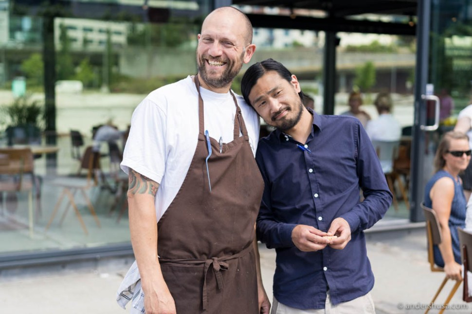 Head chef Pablo Zotelo and our table host this afternoon