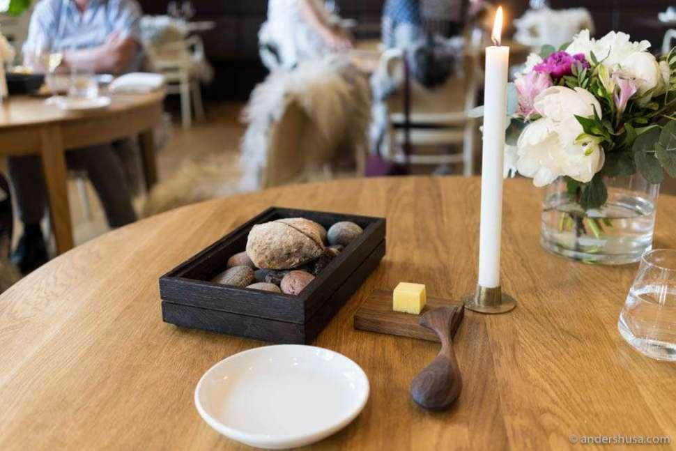 Sourdough bread and Røros butter