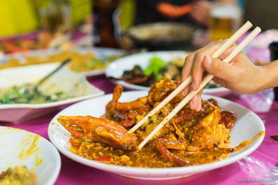 Singapore-style chili crab