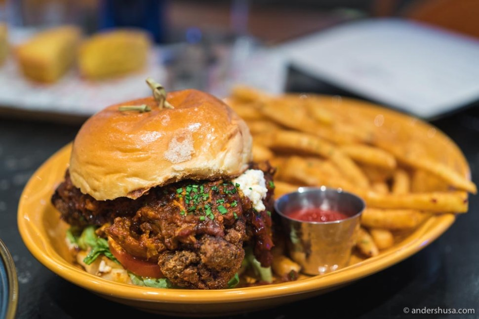 The chicken sandwich is a stable dish at Red Rooster