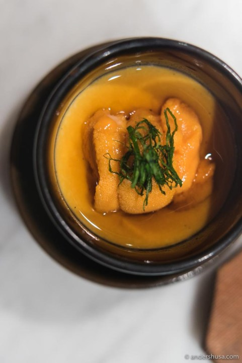 Uni (sea urchin) dessert!