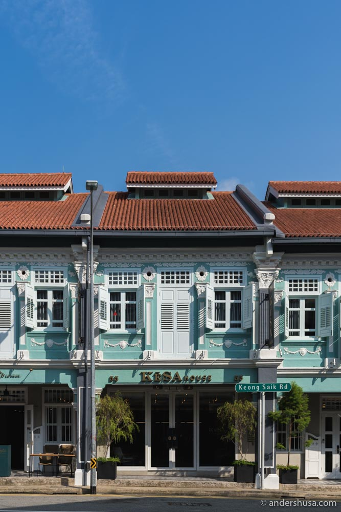 This row of low-rise shophouses in Chinatown is KēSa House