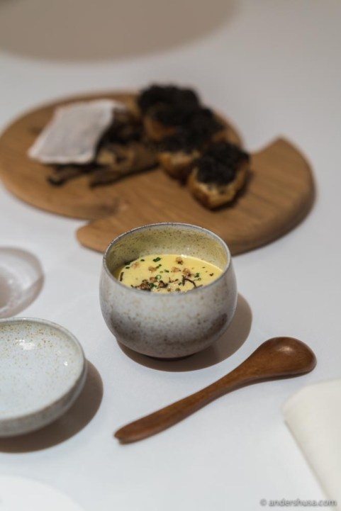 Cep sabayon & truffle toast.