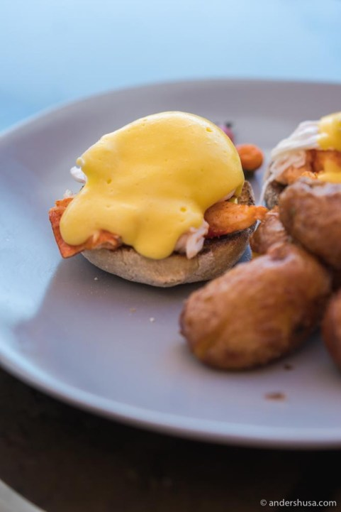 Lobster eggs Benedict.