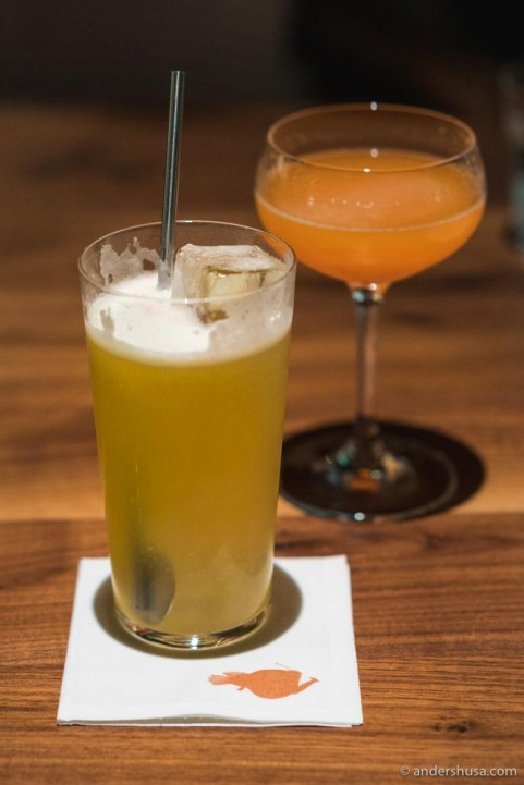 The cocktails at Angler are exceptionally well-balanced.