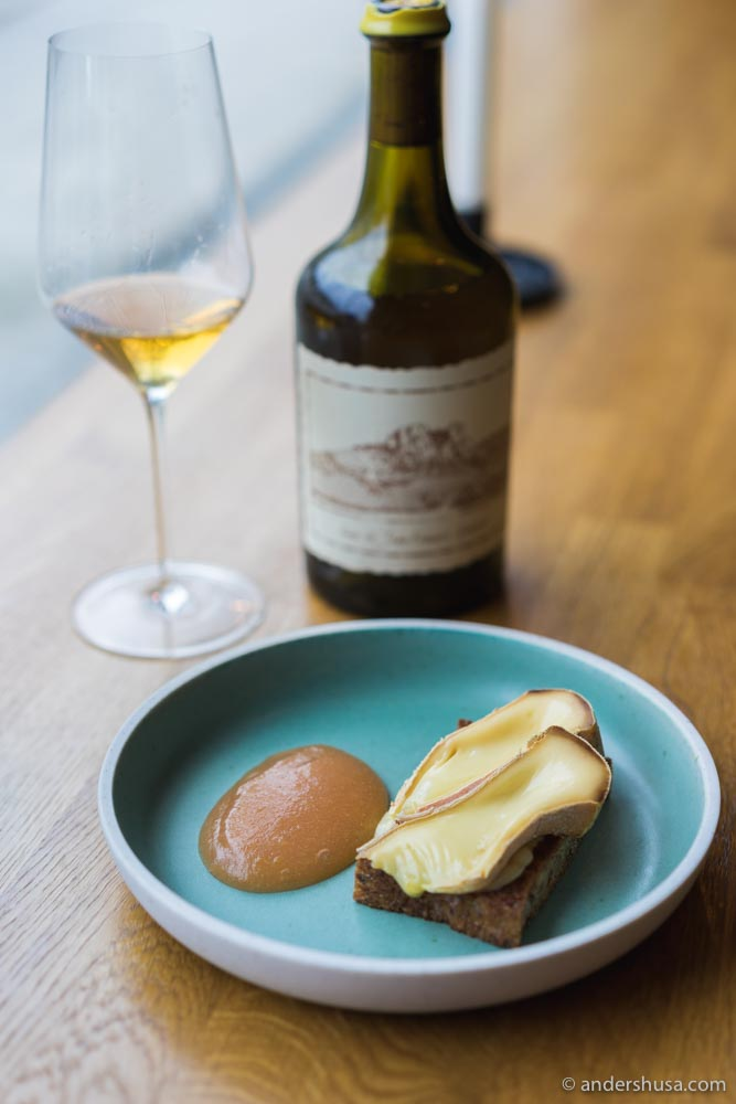 Vin Jaune and cheese is a classic combo.