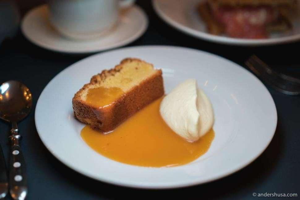 At no. 20 is the almond cake at Bar Agrikultur in Stockholm, Sweden.