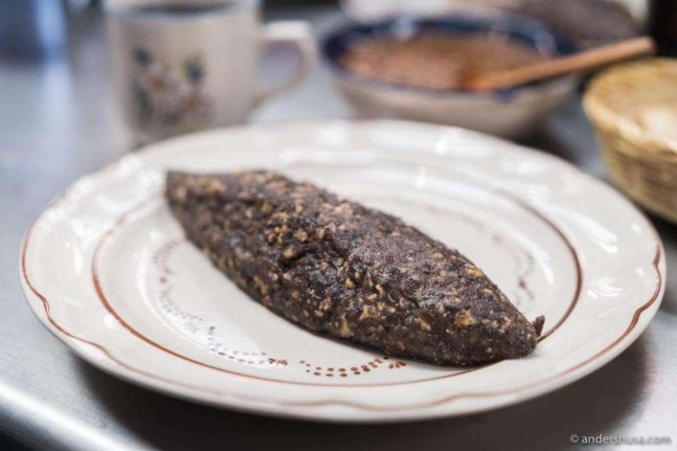 At no. 23 is the black bean omelette at Fonda Margarita in CDMX, Mexico.