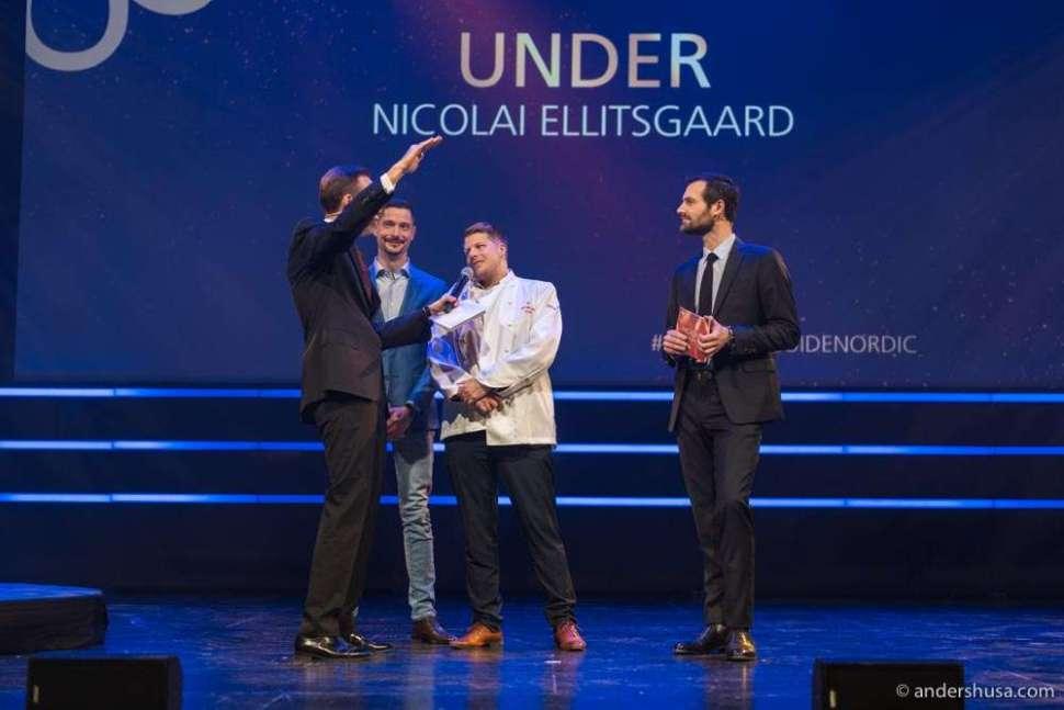 Chef Nicolai Ellitsgaard Pedersen won a star for Under.