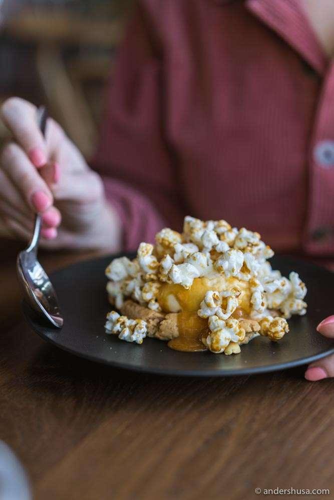 Save room for the popcorn ice cream at Brasserie Rivoli!