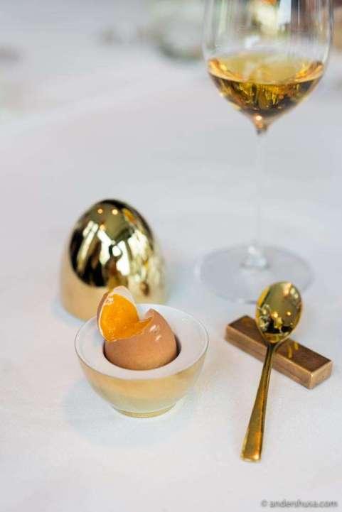 """""""Soft boiled egg"""" à la Frederikshøj."""