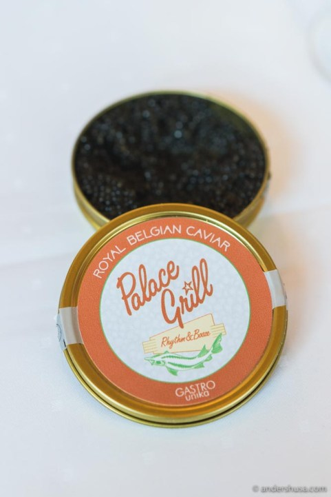Palace Grill's own caviar.