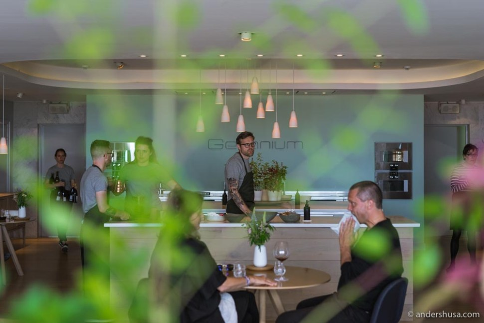 Restaurant Angelika is located inside Geranium's inspiration kitchen and private dining room.