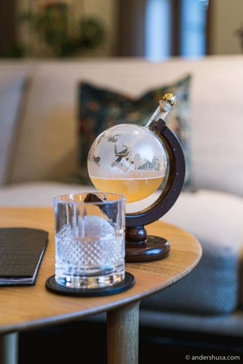 """The """"Emigration"""" cocktail with rooibos tea, citrus, and lemongrass."""