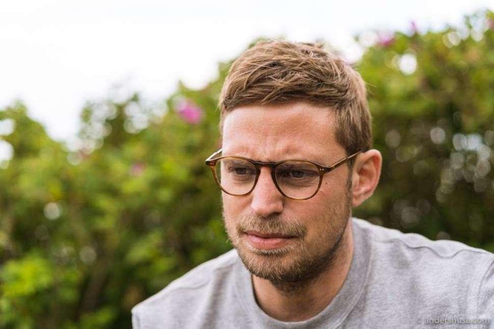 We interviewed chef Nicolai Nørregaard in the garden.