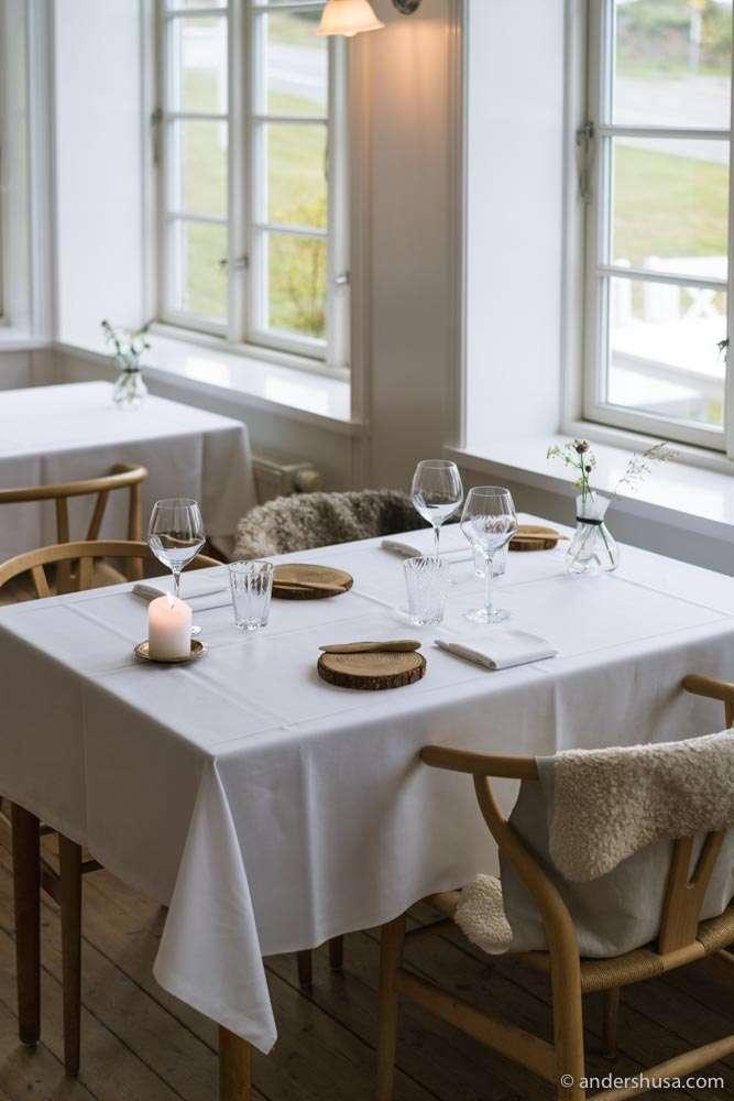 The dining room at Lassen's restaurant.