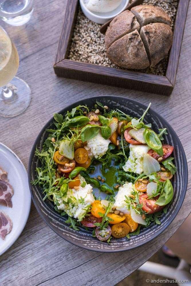 Norwegian Caprese salad.