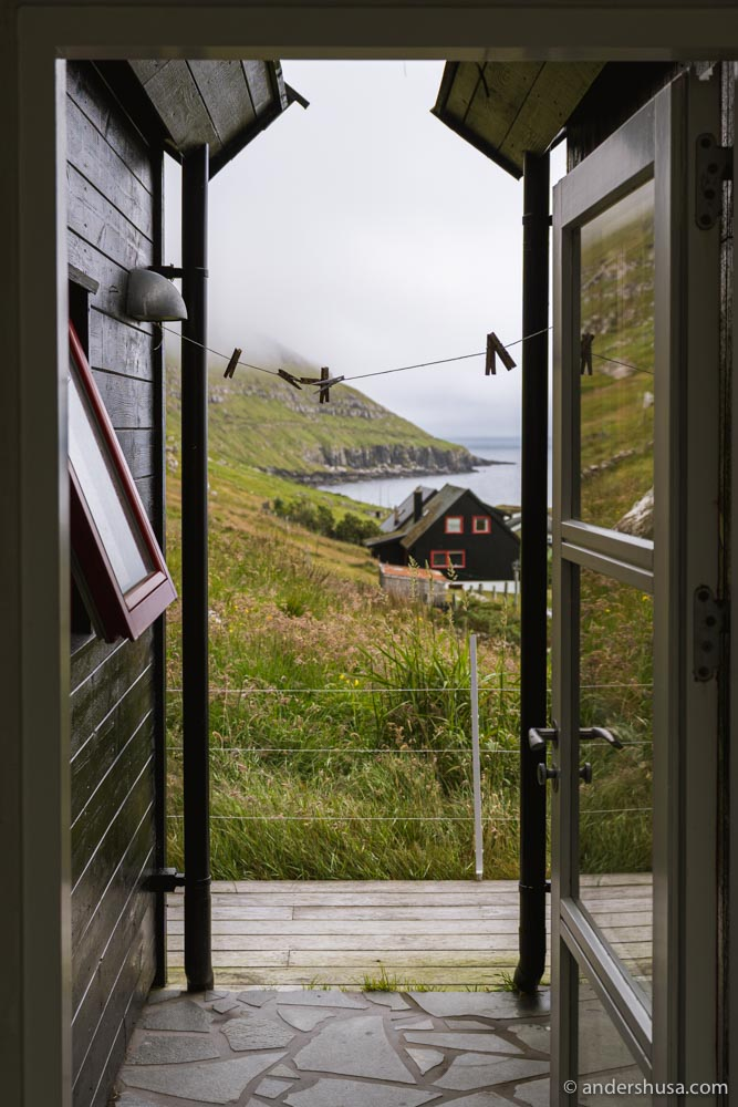 The view from the charming Faroese cottage.