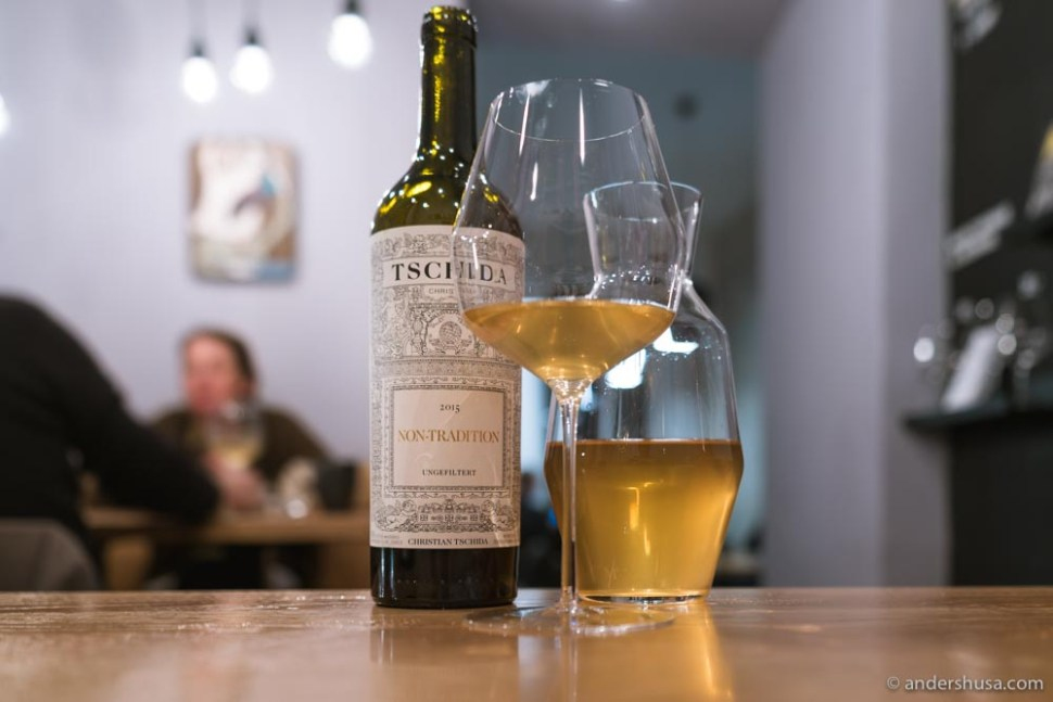 Christian Tschida is one of the many natural wine producers on the list at MAST Weinbistro.
