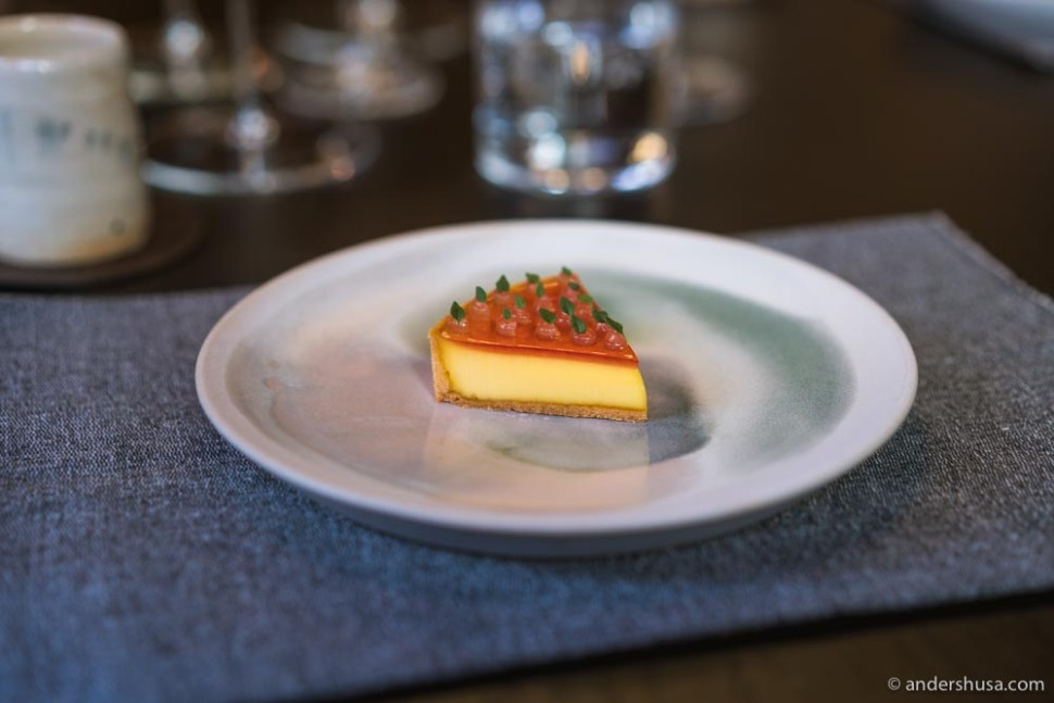 At no. 2 is the woodruff egg tart from The Tea Room in Oslo, Norway.
