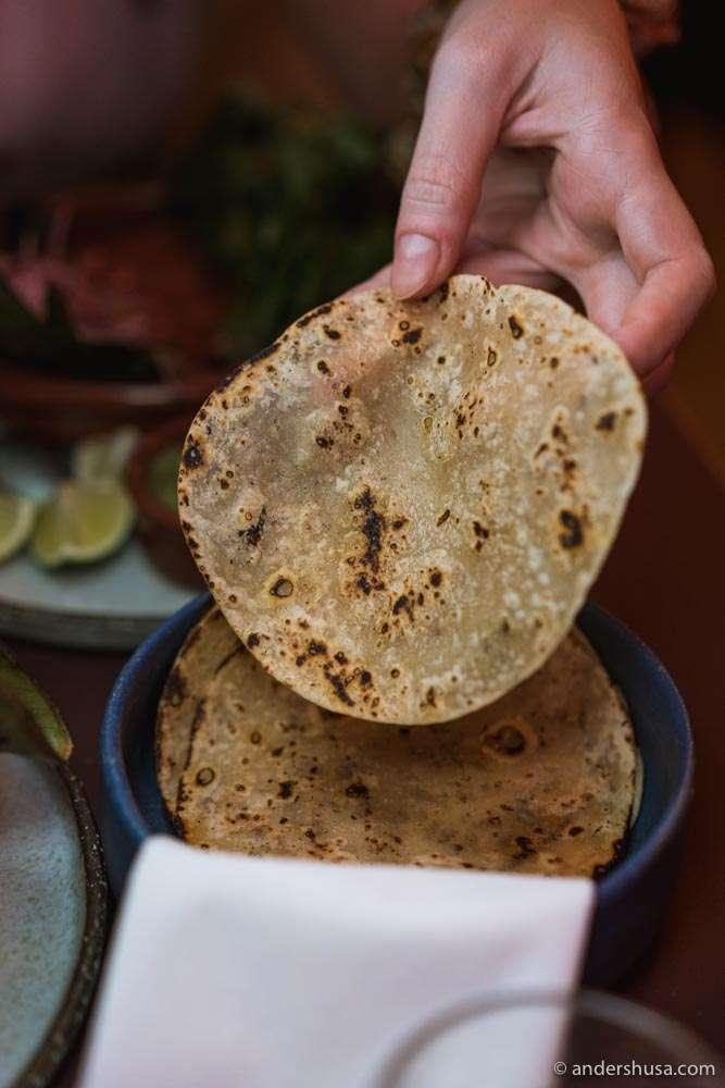 Donda's signature flour tortillas.
