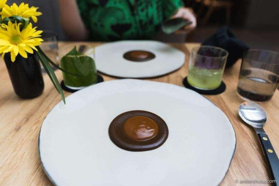 Chef Enrique Olvera's signature mole dish.
