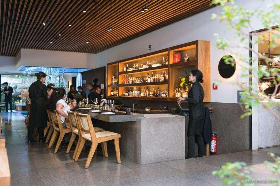 The bar of Pujol where you can enjoy a taco omakase menu.