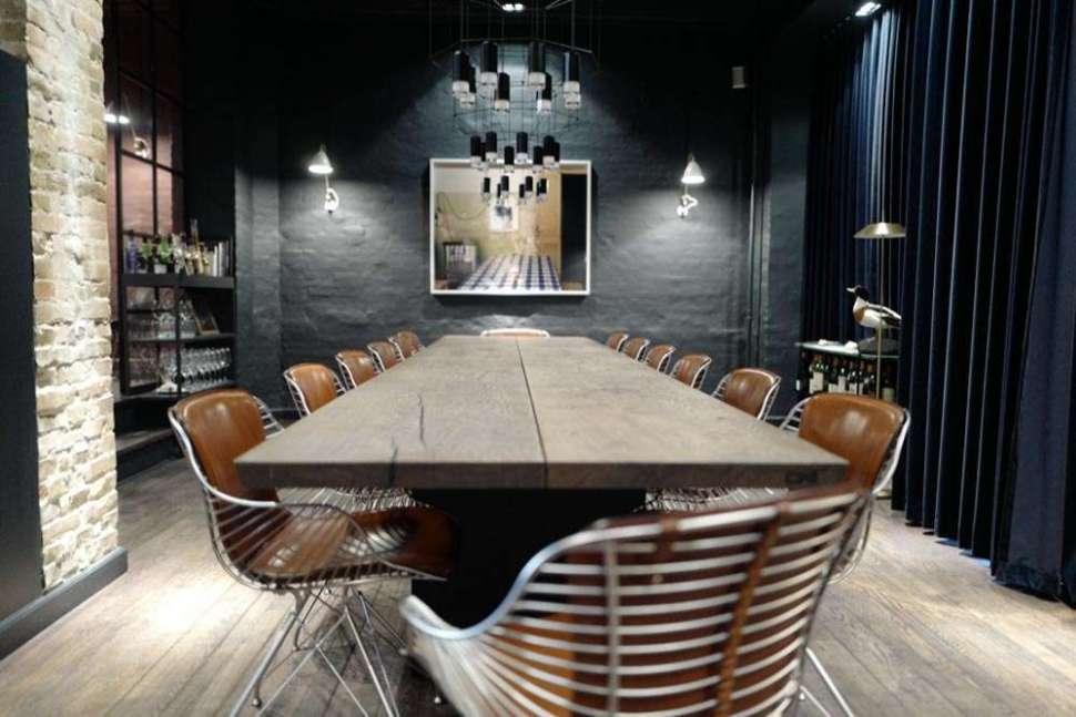 The intimate dining room will center around one shared table. Photo: Garrey Dawson.