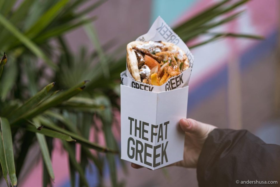 The Fat Greek serves authentic Greek gyros in Østerbro.