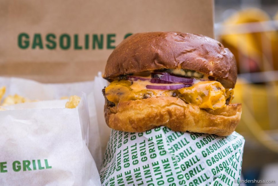Gasoline Grill makes our favorite fast food cheeseburger in the world.