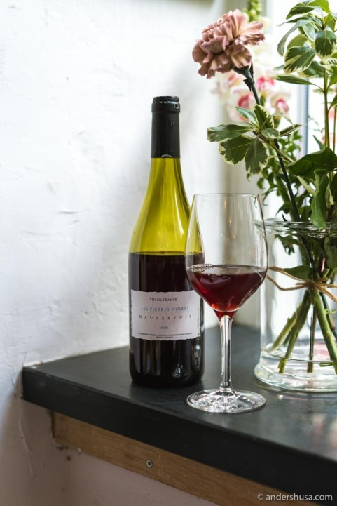 A light and juicy Gamay from Jean Maupertuis (Les Pierres Noires 2018).