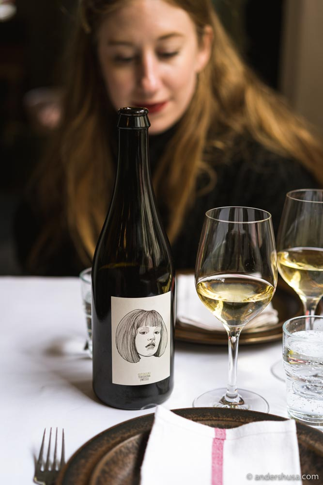 We started our meal with a glass of Theodora (2015) from Gut Oggau.