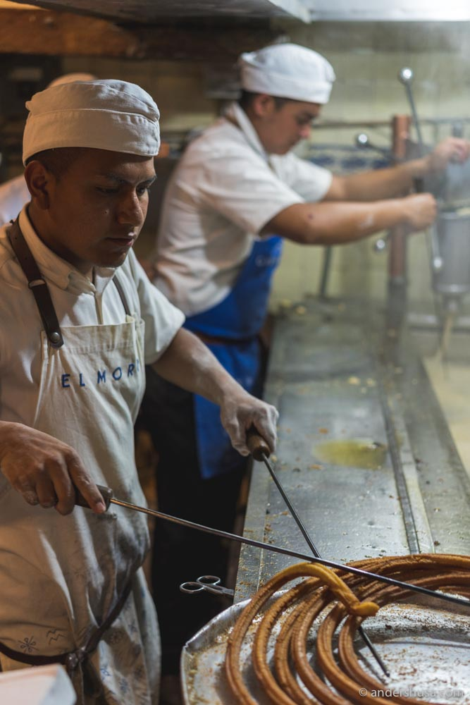 In the original location in the historic center (centro histórico), they are open around the clock, 24 hours!