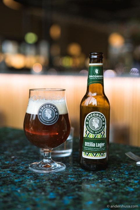 We tried the Ottilia lager, named after Carl Jacobsen's wife.