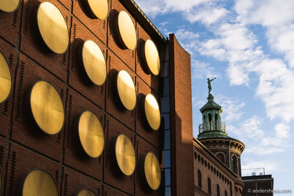 Hotel Ottilia's golden facade has been preserved from the brewery days.