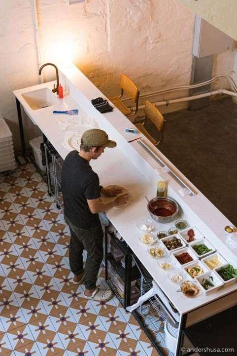 Karjane staged at Surt in Copenhagen before opening his own pizzeria.