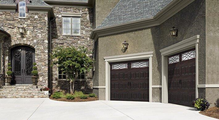 brown garage door in Millville, UT