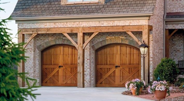 wood garage door installation in Millville, UT