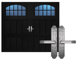 Painting Your Garage Door Decorative Hardware
