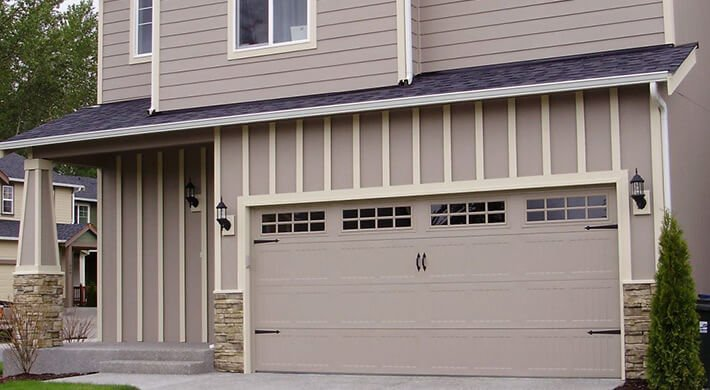500 classic residential garage door installation in Cache Valley