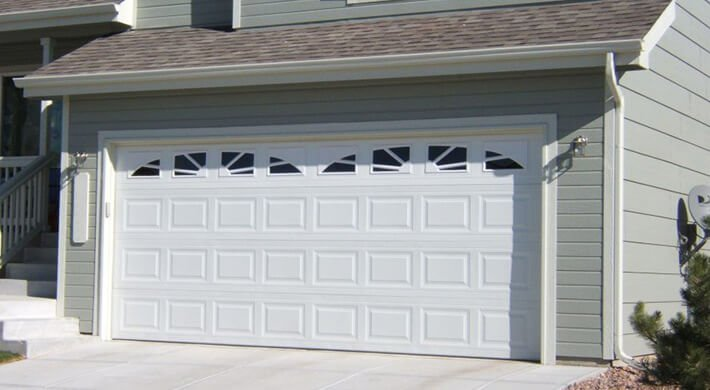 Therma Tech residential garage door in Logan, UT