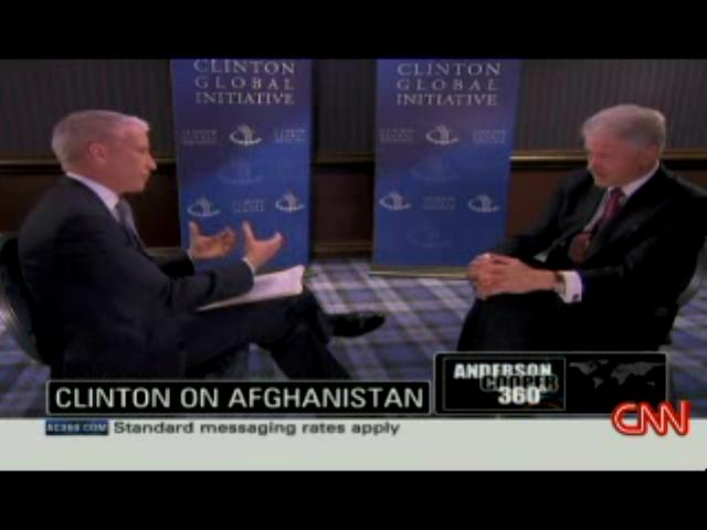 Anderson Cooper interviews Bill Clinton 7