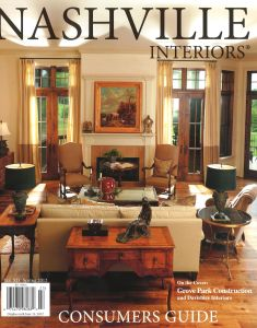 Nashville Interiors Spring 2012- COVER