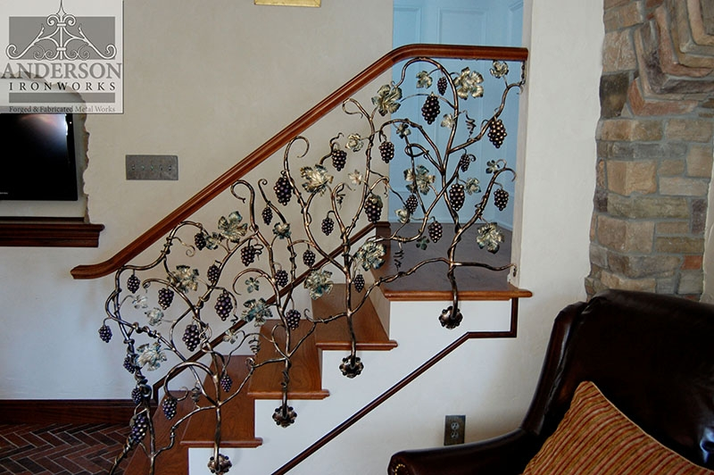 Wrought Iron Railing Custom And Pre Designed Anderson Ironworks   Metal Handrails Near Me   Stair Parts   Deck Railing   Stair Treads   Concrete Steps   Staircase